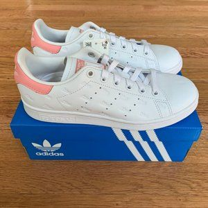 Adidas Stan Smith White/Glow Pink Womens Shoes